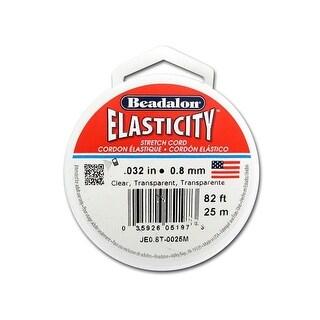 Beadalon Elasticity Pkg .8mm Clear 25M