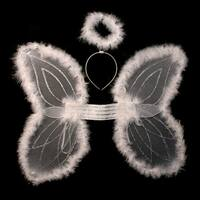 Marabou Angel Wings And Halo Set