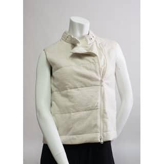 Brunello Cucinelli Womens Cream Tan Zipped Vest - 4|https://ak1.ostkcdn.com/images/products/is/images/direct/25755de8376c0ebd2b981eced888a58286765e14/Brunello-Cucinelli-Womens-Cream-Tan-Zipped-Vest.jpg?impolicy=medium