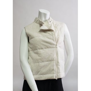 Brunello Cucinelli Womens Cream Tan Zipped Vest - 4