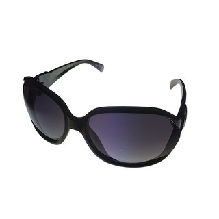Ellen Tracy Womens Sunglass ET531 2 Black Rectangle Plastic, Smoke Lens - Medium