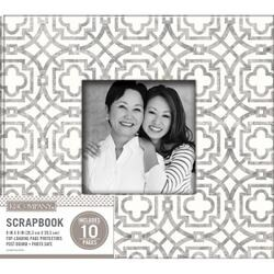 "Gray Geo - K&Company Patterned Post Bound Window Album 8""X8"""