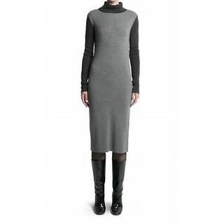 Pink Tartan NEW Gray Colorblocked Women's Size XS Sweater Dress Wool