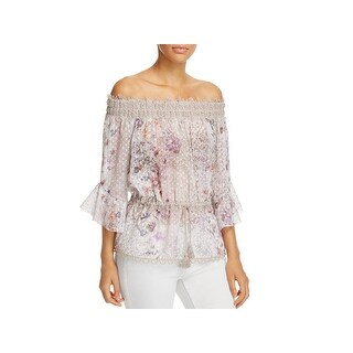 Elie Tahari Womens Zoia Blouse Metallic Floral (2 options available)