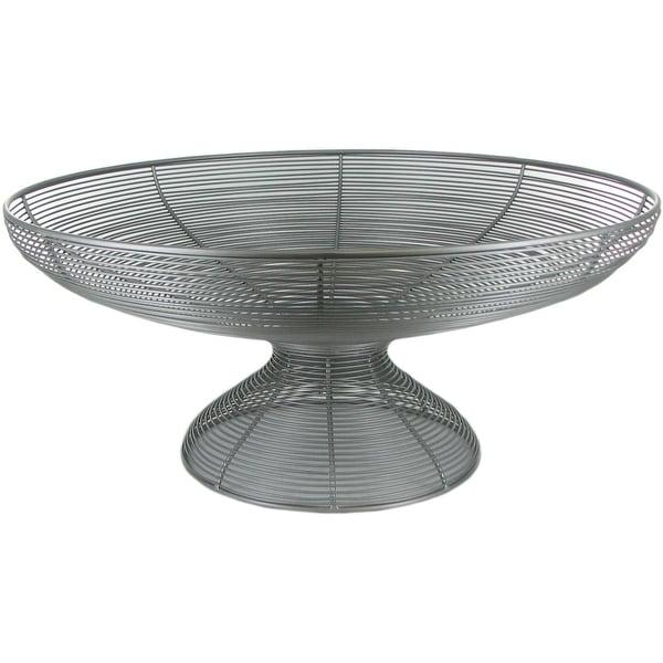Attirant Sitcom Furniture Round Silver Wire Basket