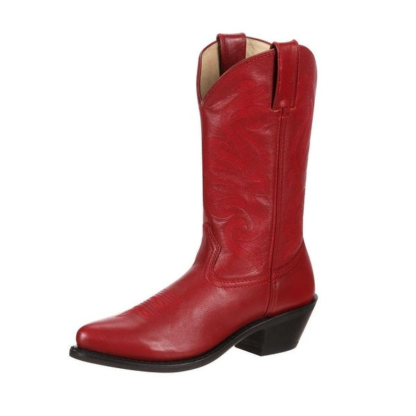 "Durango Western Boots Womens 11"" Leather Cowgirl Heel Red"
