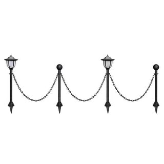 Kanstar 24 outdoor vintage guardrail lamp posts with chains free kanstar 24quot outdoor vintage guardrail lamp posts with chains workwithnaturefo