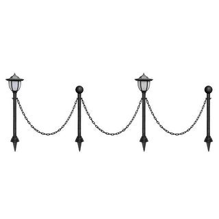 shop kanstar 24 outdoor vintage guardrail lamp posts with chains