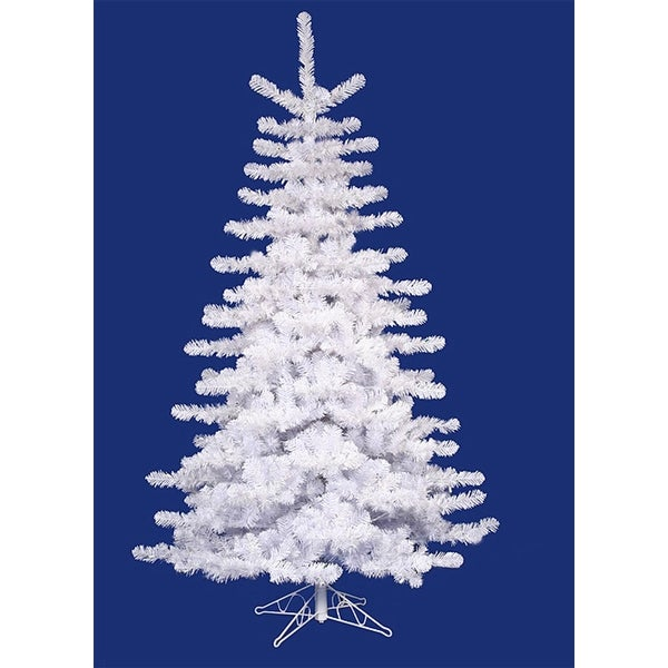14' Crystal White Slim Artificial Christmas Tree - Unlit