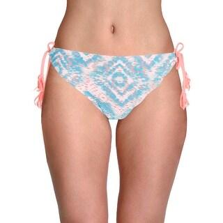 In Mocean Womens Juniors Crochet Tie-Dye Swim Bottom Separates