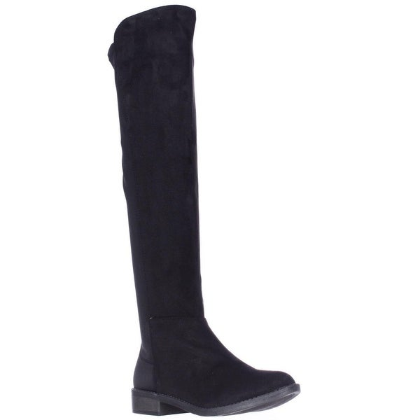 Rebel by Zigi Olaa Over The Knee Stretch Back Boots, Black
