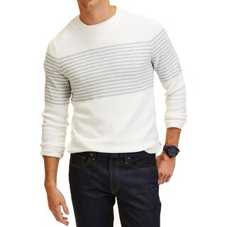 Nautica Mens Crewneck Sweater Knit Striped - XxL