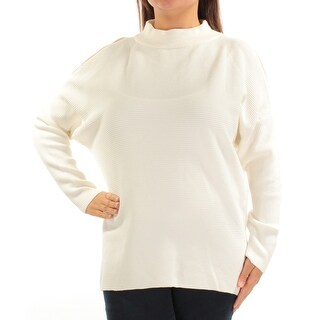 Womens Ivory Dolman Sleeve Turtle Neck Casual Sweater Size XL