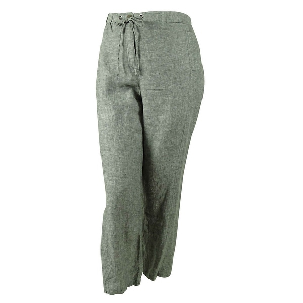 267713fddd0 Shop JM Collection Women s 100% Linen Knit Pants - Free Shipping On ...