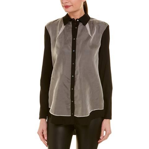 Nicole Miller Artelier Silk-Blend Shirt