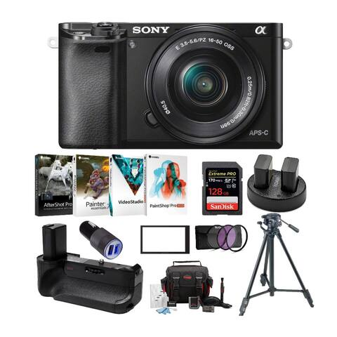 Sony Alpha a6000 24.3MP Mirrorless ILC with 16-50mm Lens Camera Bundle