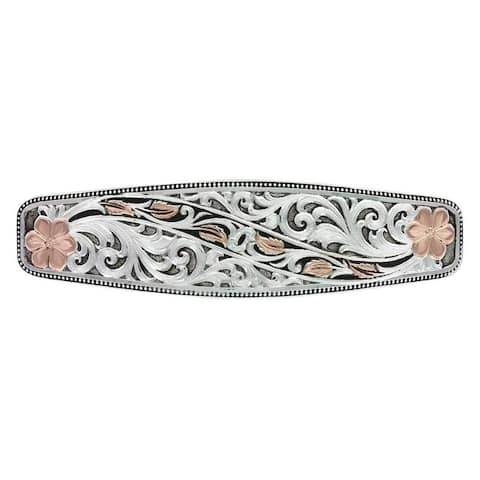 Montana Silversmiths Western Barrette Women Winding Leaves - Silver Gold - One Size