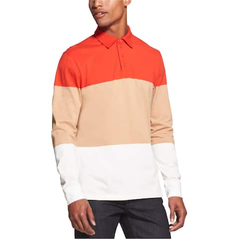 Dkny Mens Colorblocked Rugby Polo Shirt
