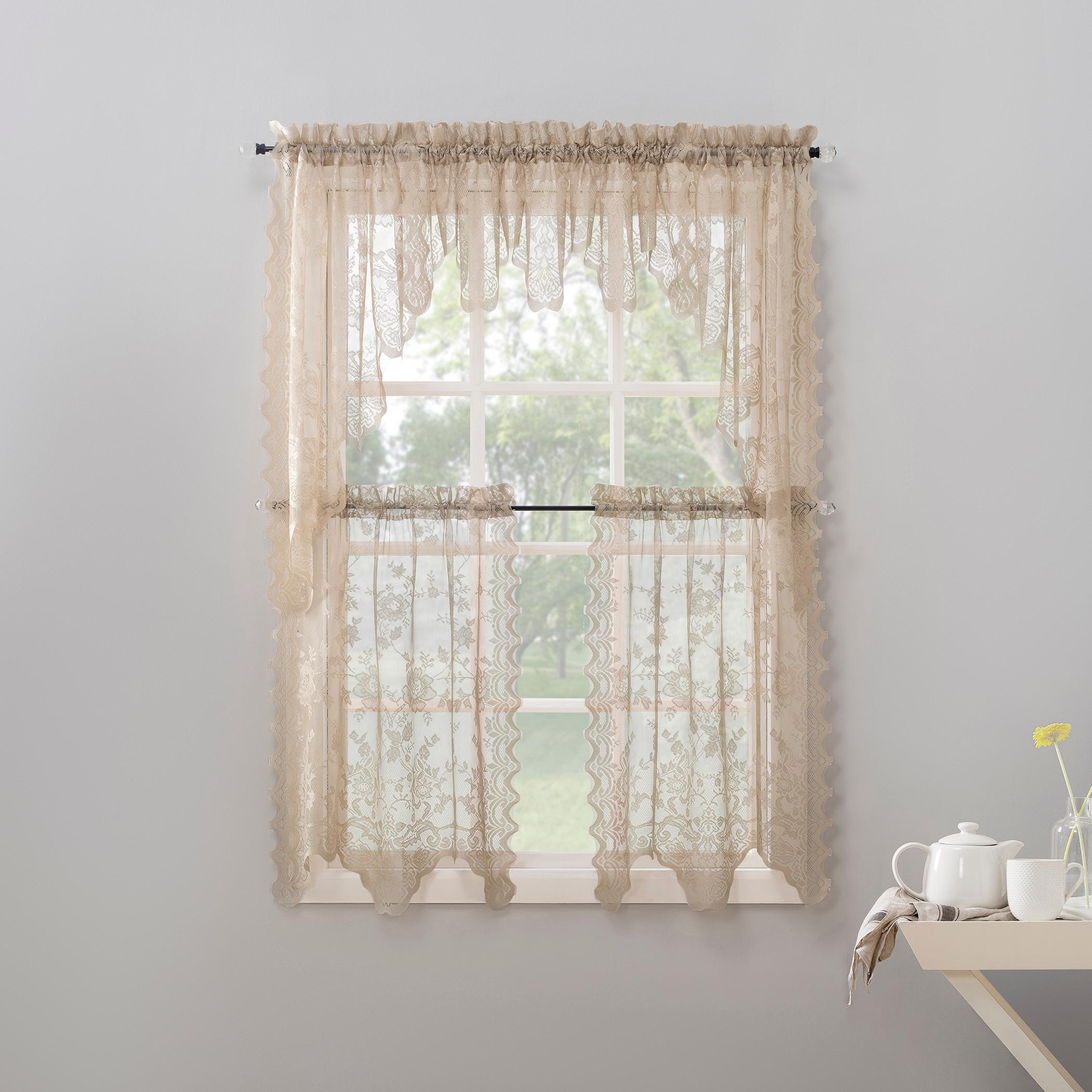 Window Treatments Hardware Floral Window Fresh Curtains Fashion Kitchen Transparent Short Simple Lace Q Home Garden Mbln Org