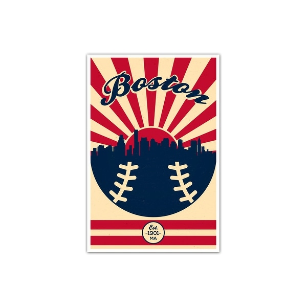 Boston Red Sox Vintage MLB Poster Matte Poster 16x24