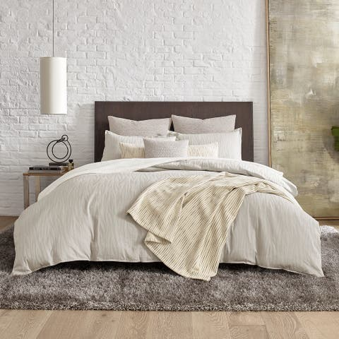 Kenneth Cole New York Lawrence Beige Duvet Cover Set