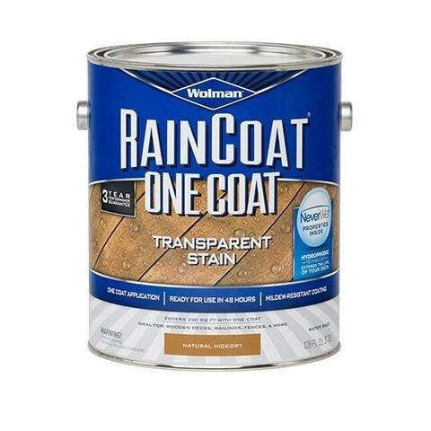 Zinsser 288334 Wolman RainCoat One Coat Transparent Stain, Gallon