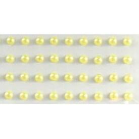 Yellow - Bling Self-Adhesive Pearls 5Mm 100/Pkg