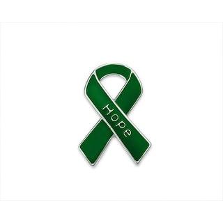 Hope Green Ribbon Pins for Mental Health Awareness