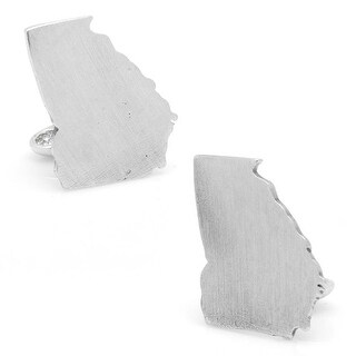 Solid Pewter State of Georgia Map Cufflinks