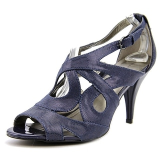 Bandolino Janeta Women Open Toe Canvas Blue Sandals