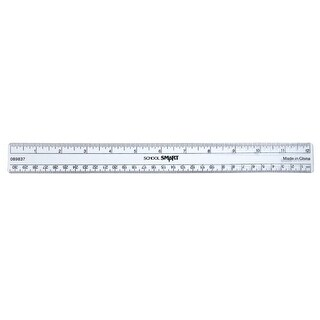 Flexible Transparent Plastic See-Through Ruler - Inch And