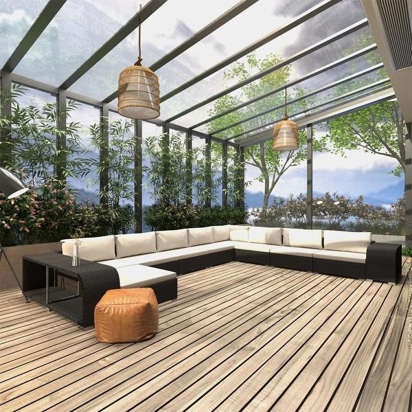 Shop vidaXL 11 Piece Garden Lounge Set with Cushions Poly ... on Safavieh Outdoor Living Horus Dining Set id=41981