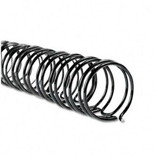 WireBind Spines- 3/8 quot; Diameter- 75 Sheet Capacity- Black-