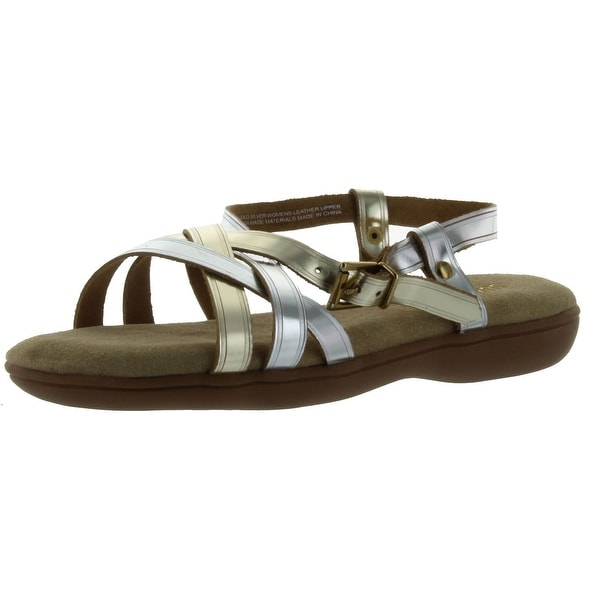 Bass Women's Margie Sandal - Gold/Silver - 6 b(m) us