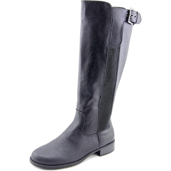 Unlisted Kenneth Cole Spare Star Wide Calf Round Toe Synthetic Knee High Boot