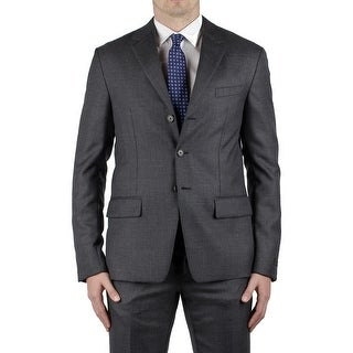 Prada Men's Wool Mohair Silk Blend Three-Button Suit Grey
