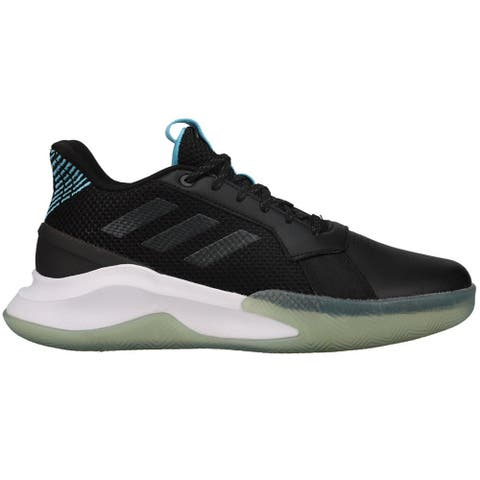 adidas Runthegame Mens Basketball Sneakers Shoes Casual - Black