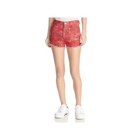 IRO. Jeans Womens Omiandato Cutoff Shorts Linen Bandana