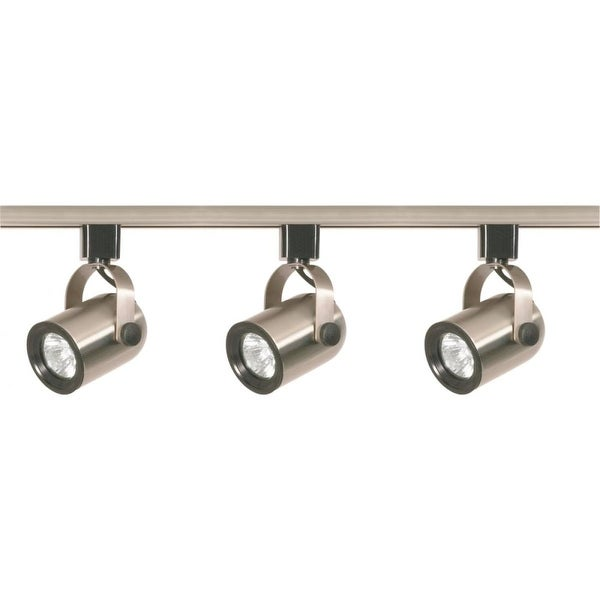 "Nuvo Lighting TK354 3-Light 3-3/4"" Wide H-Track Track Kit - Brushed nickel - N/A"