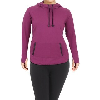 Marc New York by Andrew Marc Womens Plus Hoodie Fitness Sport
