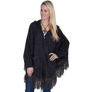 Scully Western Sweater Womens Honey Creek Hood Fringe One Size HC213 - One size