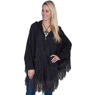 Scully Western Sweater Womens Honey Creek Hood Fringe One Size - One size