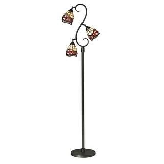 Dale Tiffany TF12408 Fall River 3 Light Torchiere Lamp - Dark Bronze