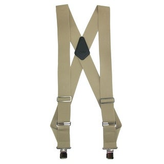 CTM® Men's Big & Tall Elastic Basic Trucker Side Clip Suspender - One size