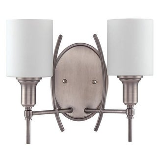 Jeremiah Lighting 37262 Meridian 2 Light Double Wall Sconce - 14.5 Inches Wide