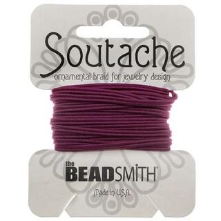 BeadSmith Soutache Braided Cord 3mm Wide - Magenta (3 Yards)