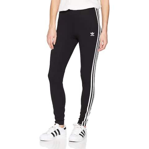 163d892c266 Adidas Originals Black White Womens Size Small S Striped Leggings