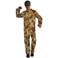 Army Camouflage Jumpsuit Adult One Size Fits Most - Green
