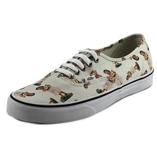 Vans Authentic Men  Round Toe Canvas White Sneakers