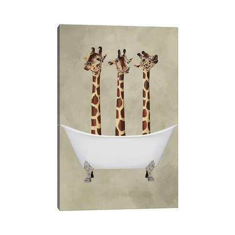 """iCanvas """"Giraffes In Bathtub"""" by Coco de Paris Canvas Print"""